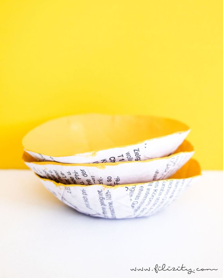 DIY Pappmaché Schalen aus Altpapier – 5 Blogs 1000 Ideen