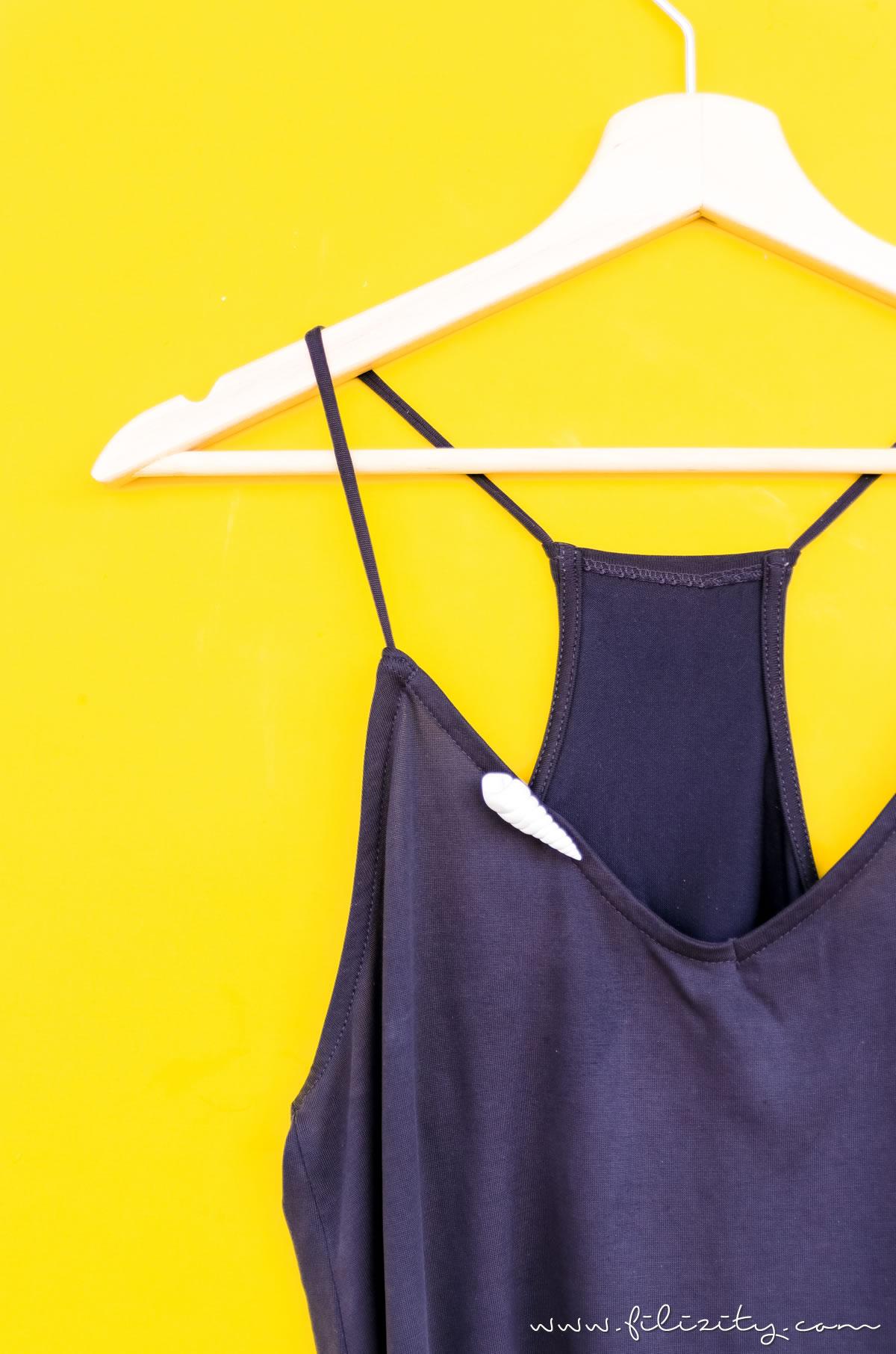 Kleidung aufpeppen: DIY Muschel-Brosche aus Fimo oder Kaltporzellan selber machen | Sommer-Schmuck basteln | Filizity.com - DIY-Blog aus dem Rheinland #myfimo #fimo #kaltporzellan #sommer