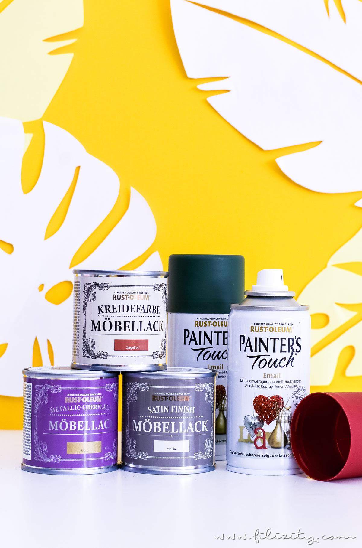 Schnelle Upcycling Idee mit Chalk Paint: IKEAHACK Frosta Hocker im Urban Jungle Style | Filizity.com - DIY-Blog aus dem Rheinland #diysummer #rustoleum #urbanjungle #frosta #ikeahack