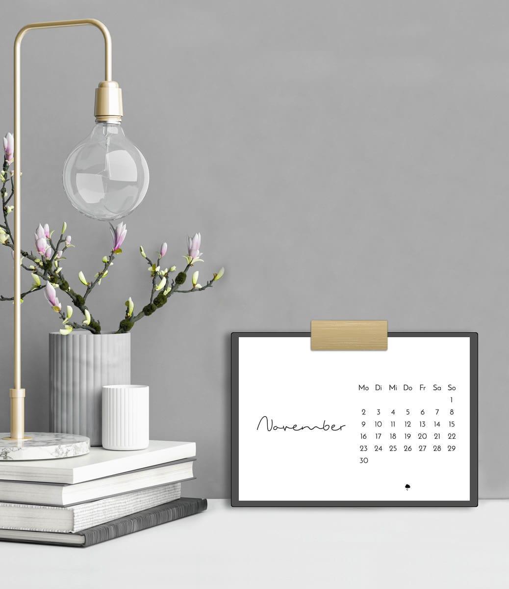 Minimalistischer Tischkalender 2020 mit Feiertagen (Druckvorlage/Printable, A5)   Stylischer Schreibtisch-Helfer & Arbeitszimmer-Deko   Filizity.com   Interior- & DIY-Blog und Shop #kalender #calendar