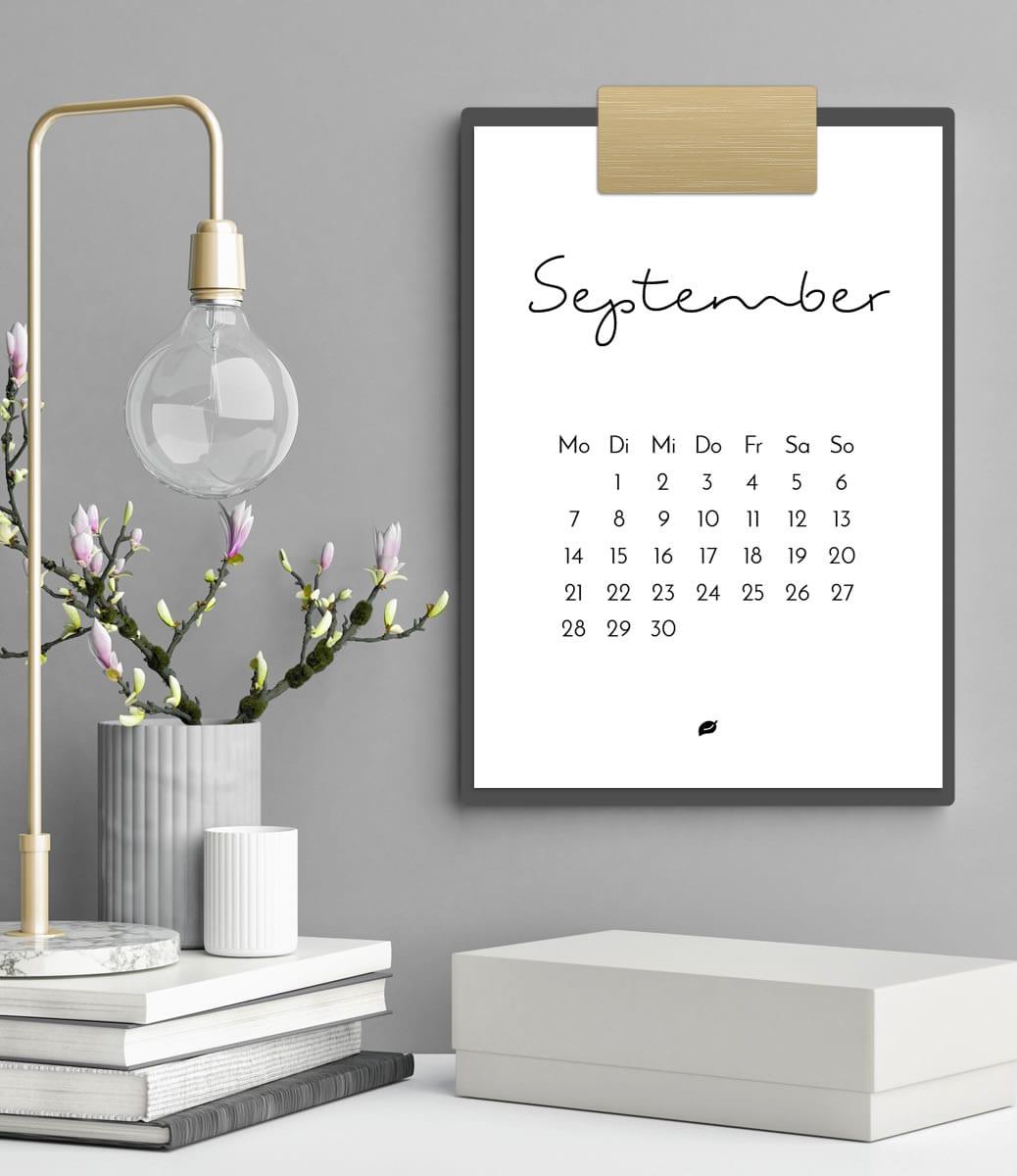 Druckvorlage für den minimalistischen Kalender 2020 - dein stylisches Wohnaccessoire   Filizity.com   Interior- & DIY-Blog und Shop #kalender #calendar #2020 #printable