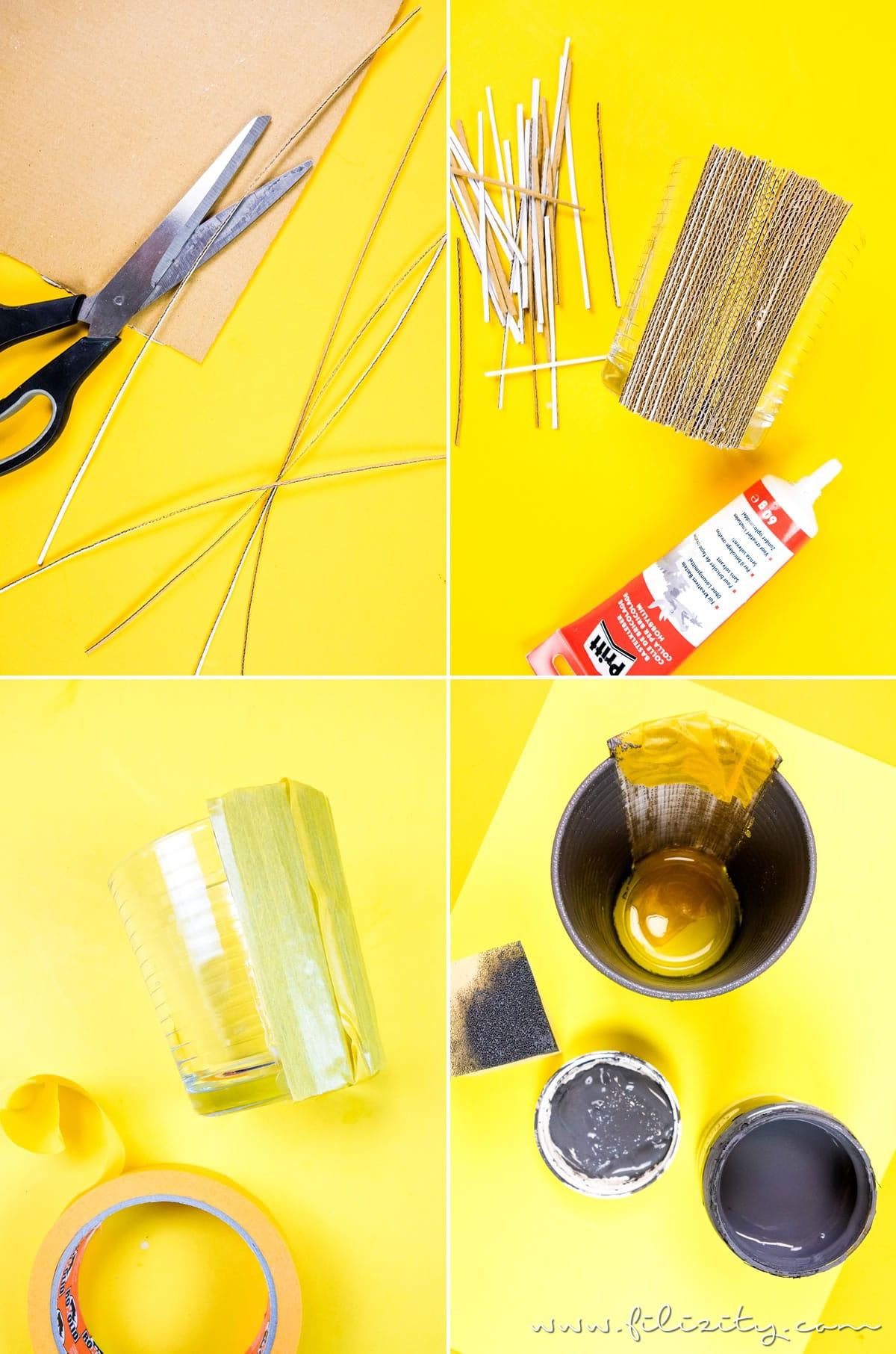 Upcycling: DIY Windlicht aus Pappkarton basteln - 5 Blogs 1000 Ideen | Filizity.com - DIY Blog aus Rheinland #herbst #upcycling #5Blogs1000Ideen