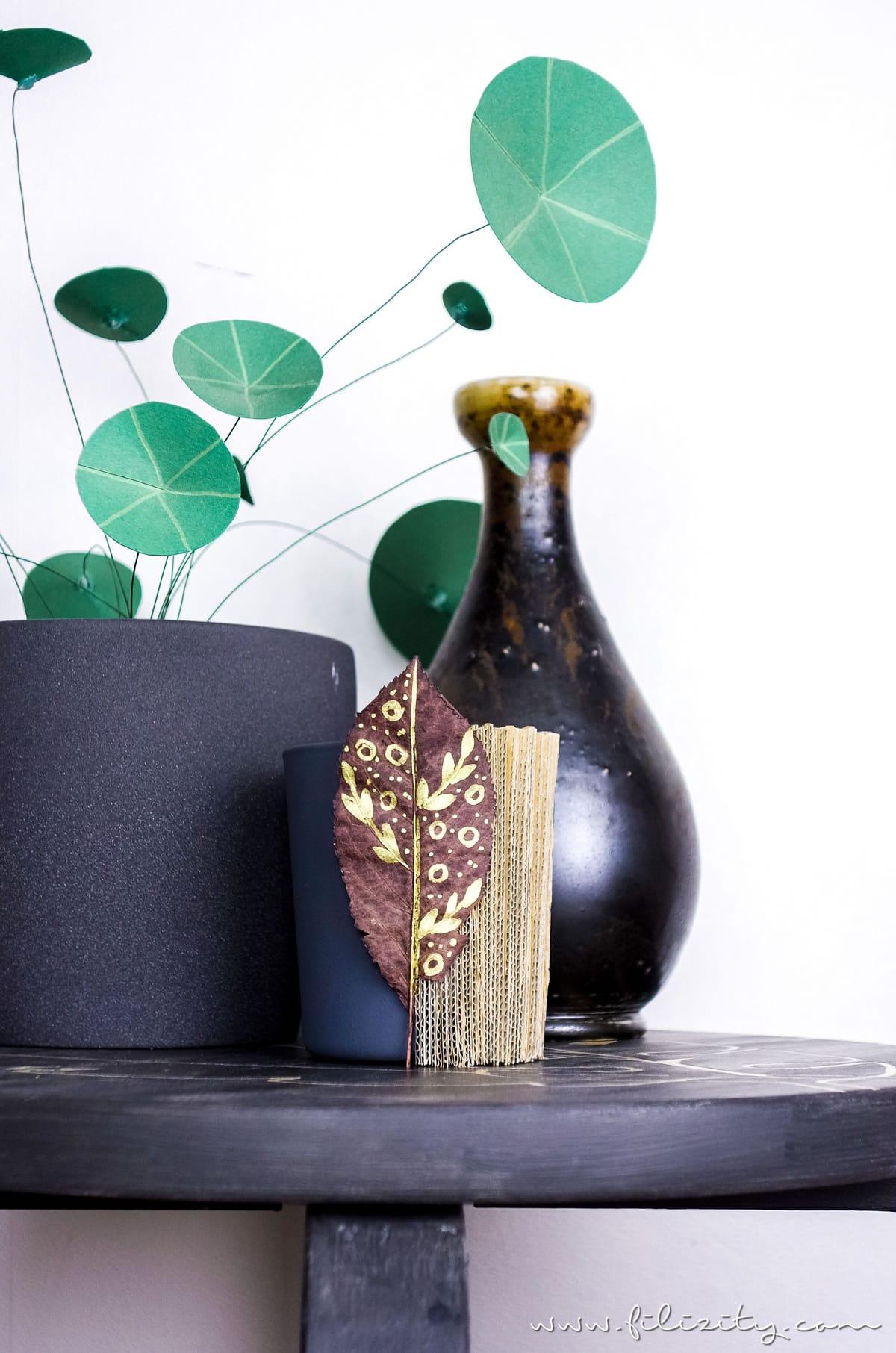 Upcycling Herbst-Deko: DIY Windlicht aus Versandkarton - 5 Blogs 1000 Ideen | Filizity.com - DIY Blog aus Rheinland #herbst #upcycling #5Blogs1000Ideen