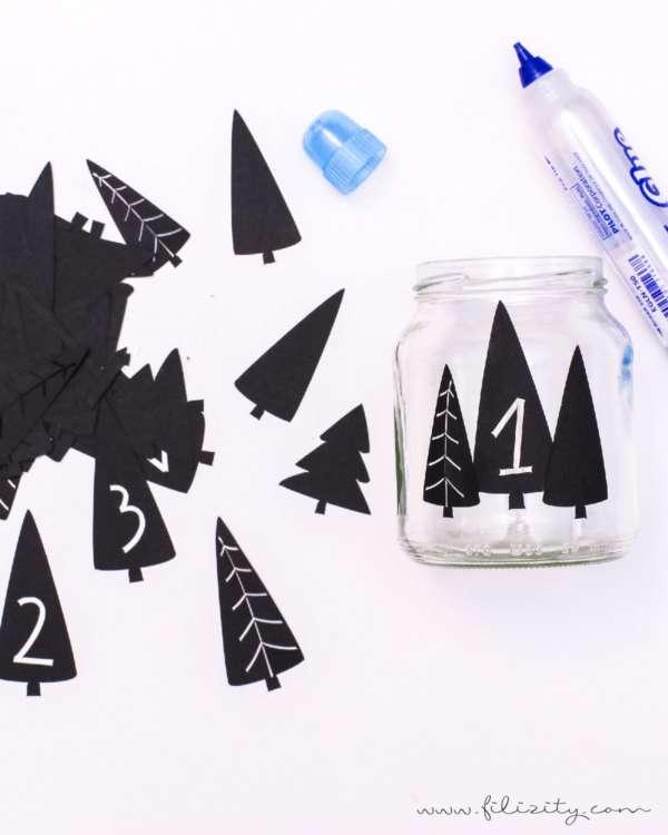 Printable: Plotterdateien und Druckvorlage für DIY Adventskranz